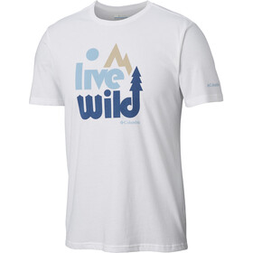 Columbia Terra Vale T-shirt Herrer, white
